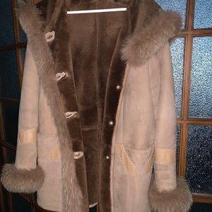 Beautiful Oz Temer Leather/Fur Coat Sz 48
